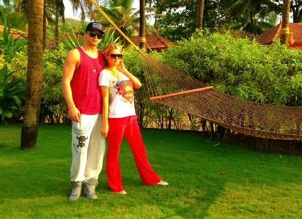 Paris Hilton and River Viiperi in Goa