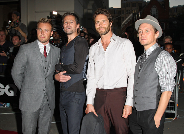 Gary Barlow, Jason Orange, Howard Donald, Mark Owen Take That GQ Men of the Year awards 2009 held at the Royal Opera House - outside arrivals London, England - 08.09.09 Mandatory Credit: Lia Toby/WENN.com