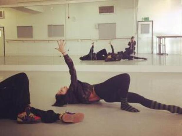 Nicole Scherzinger rehearsing for her new music video Boomerang