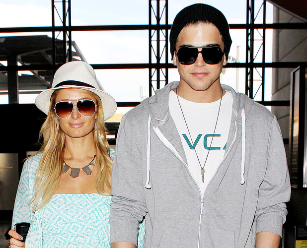 Paris Hilton arrives at LAX airport with River Viiperi to fly to Goa - 27 November 2012