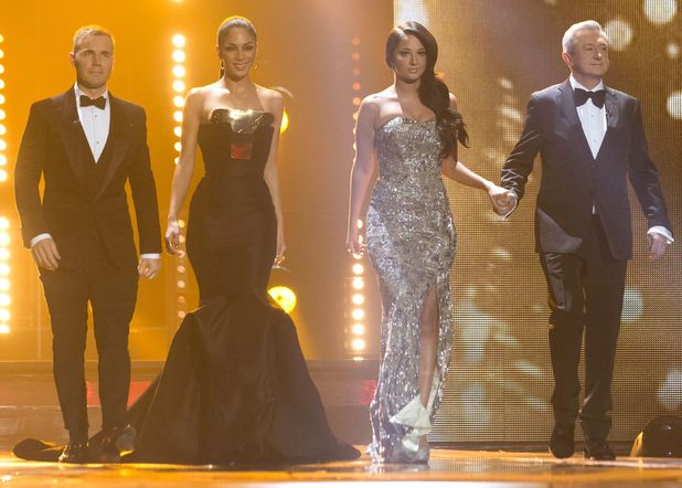The X Factor Final Live' TV Programme, Manchester Central Convention Centre, Manchester, Britain. - 09 Dec 2012 The Judges : Gary Barlow, Nicole Scherzinger, Tulisa Contostavlos and Louis Walsh