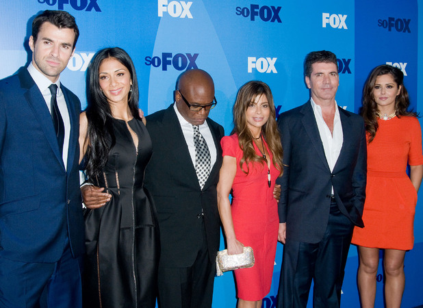 Steve Jones, Nicole Scherzinger, L.A Reid, Paula Abdul, Simon Cowell and Cheryl Cole of the X Factor FOX upfront presentation - Arrivals New York City, USA - 16.05.11 Mandatory Credit: Ivan Nikolov/WENN.com