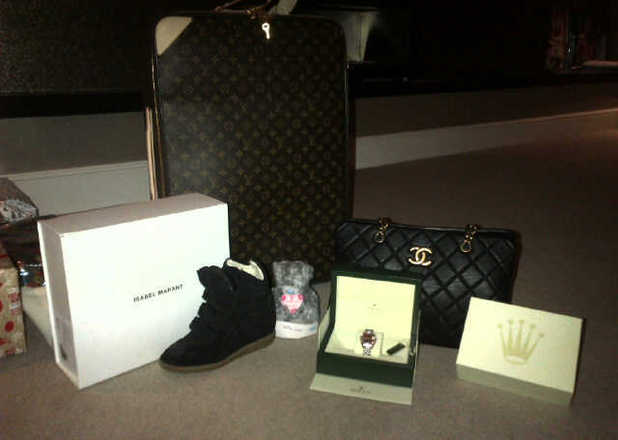 Tulisa uploads a picture of her Christmas presents