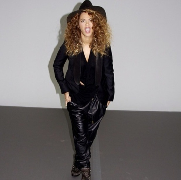 Beyoncé uploads picture of her in loose leather trousers on Instagram