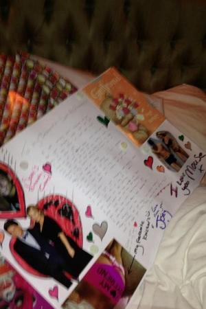 Joey Essex's birthday card to Sam Faiers