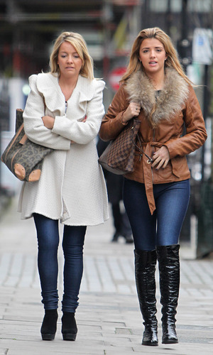 TOWIE's Lucy Mecklenburgh in London with her mum