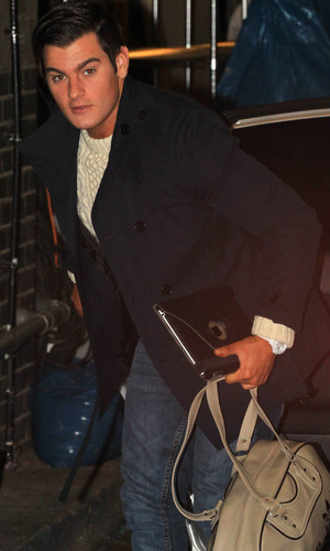 Matt Lapinskas arrives for Dancing On Ice rehearsals - 3 January 2013