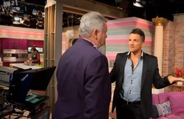 Peter Andre chats to Eamon Holmes on This Morning