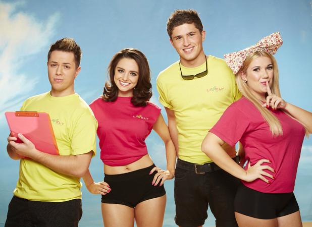 Imogen Maria Townley, Jordan Davies, Jamie-Leigh Paley, Brett Hamilton from ITV2 Magaluf Weekender
