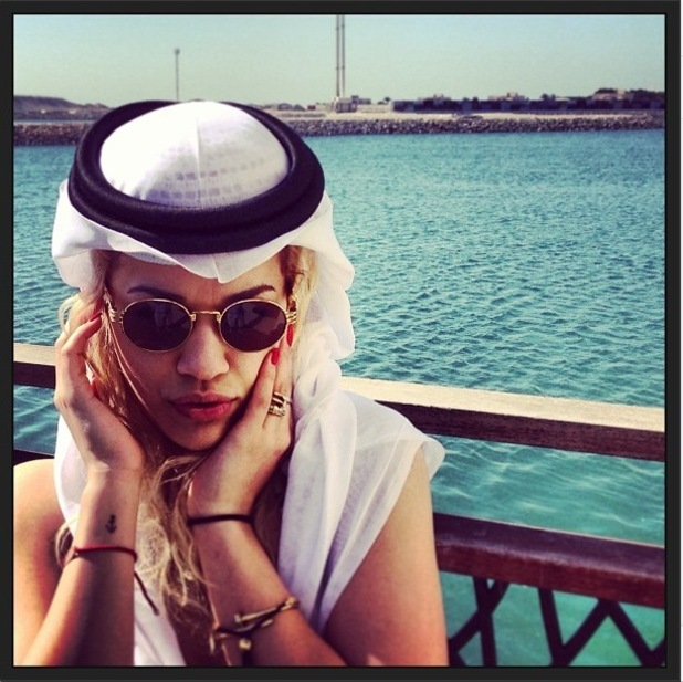 Rita Ora on holiday in Dubai