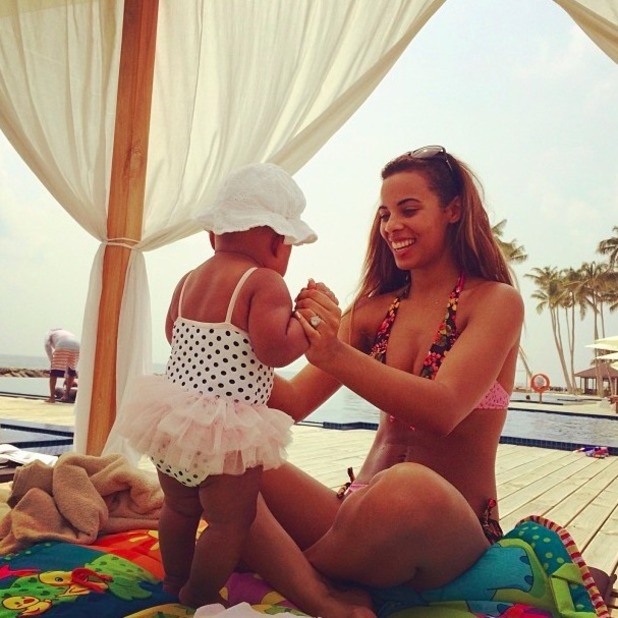 Rochelle shares cute pictures of baby daughter Alaia-Mai on holiday, 30 December 2013