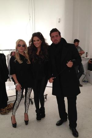 Made In Chelsea's Spencer Matthews, Binky Felstead on set of Stacey Jackson's music video