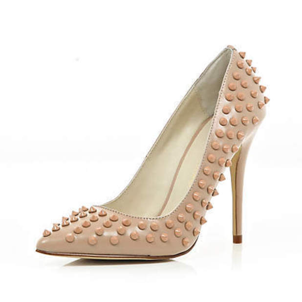 Nude Heels With Spikes