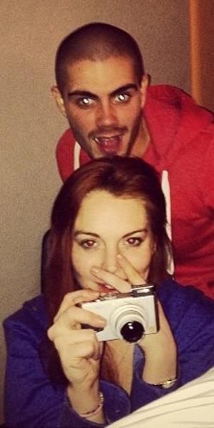 Lindsay Lohan and Max George, London, 21.01.2013