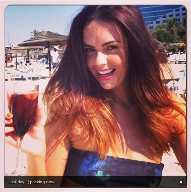 Hollyoaks actress Jennifer Metcalfe on holiday in Dubai