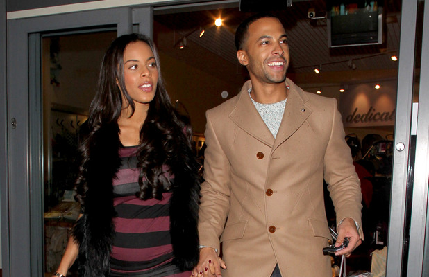 Marvin Humes and Rochelle Wiseman out and about in Watford, Britain - 28 Jan 2013