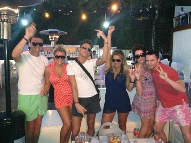 TOWIE's Billie Faiers, Samantha Faiers and Joey Essex in Dubai