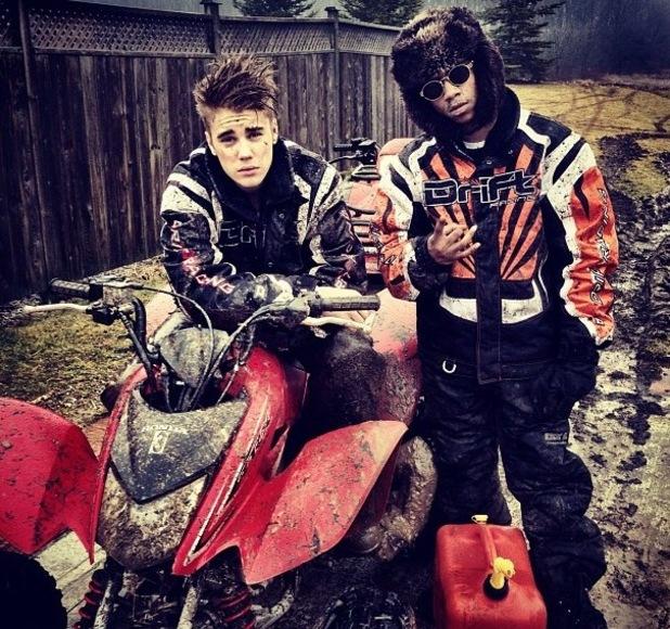 Justin Bieber and Lil Twist quad biking on 31 January
