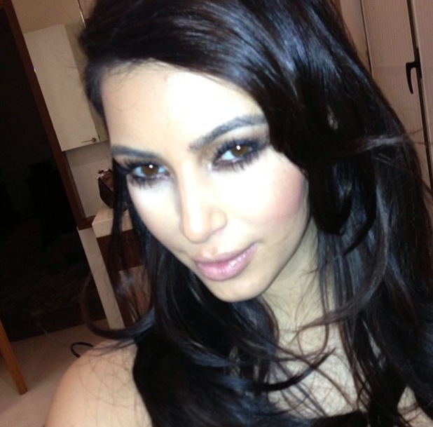 "Kim Kardashian in Paris with caption: ""Fun night."""