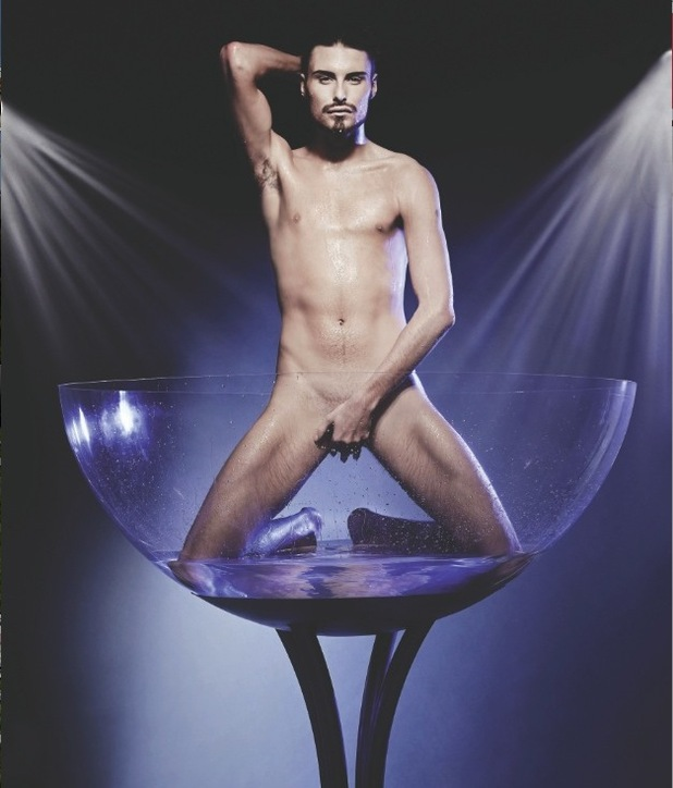 Rylan Clark poses for Cosmopolitan's March Centrefold 2013