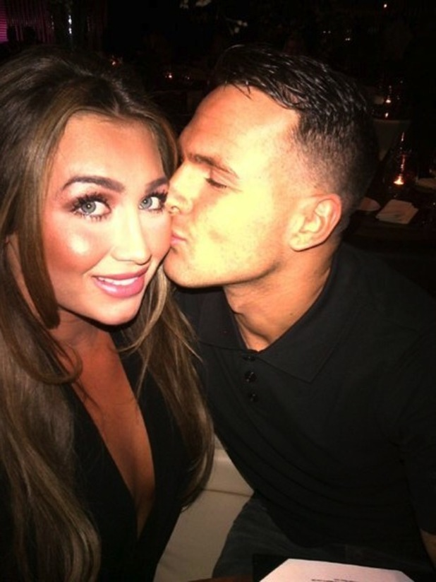 Lauren Goodger partying with boyfriend Jake McLean