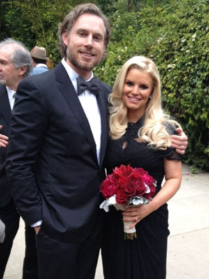 Jessica Simpson and Eric Johnson at Cacee Cobb and Donald Faison's wedding