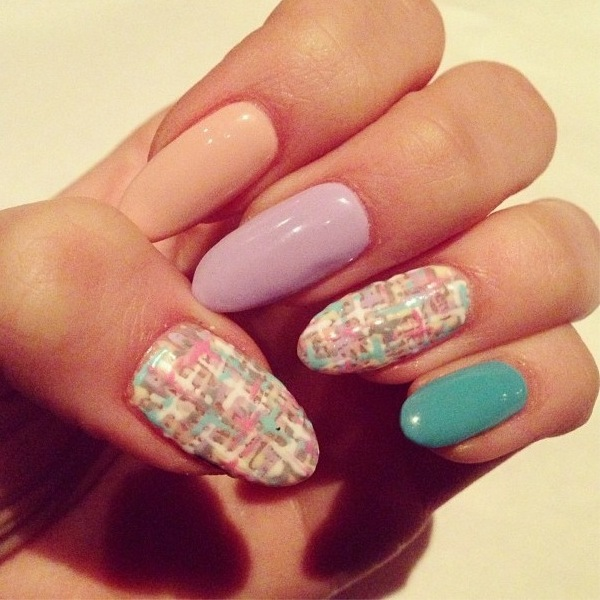 pretty pastel & tweed nails - get the look! - Beauty News - Reveal