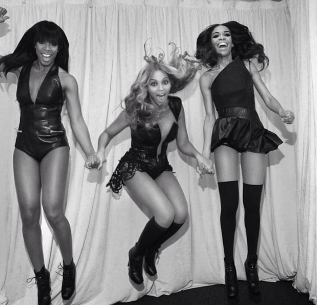 Destiny's Child after Super Bowl performance, Michelle Williams, Beyoncé Knowles and Kelly Rowland