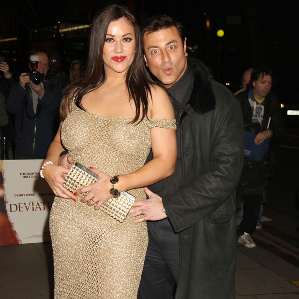 Lisa Appleton and Mario Marconi UK film premiere of 'Deviation' held at the Odeon Covent Garden - Arrivals London, England - 23.02.12 Credit Mandatory: WENN.com