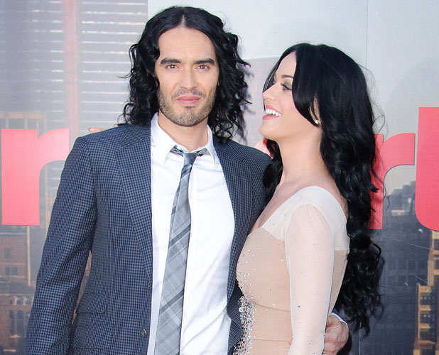 Russell Brand and Katy Perry at the premiere of Arthur in London