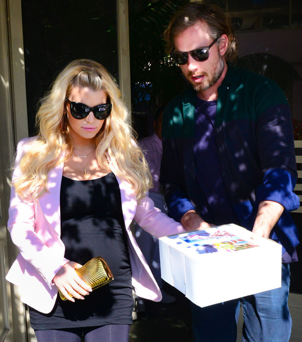 Jessica Simpson and Eric Johnson out and about, Los Angeles, America - 14 Feb 2013