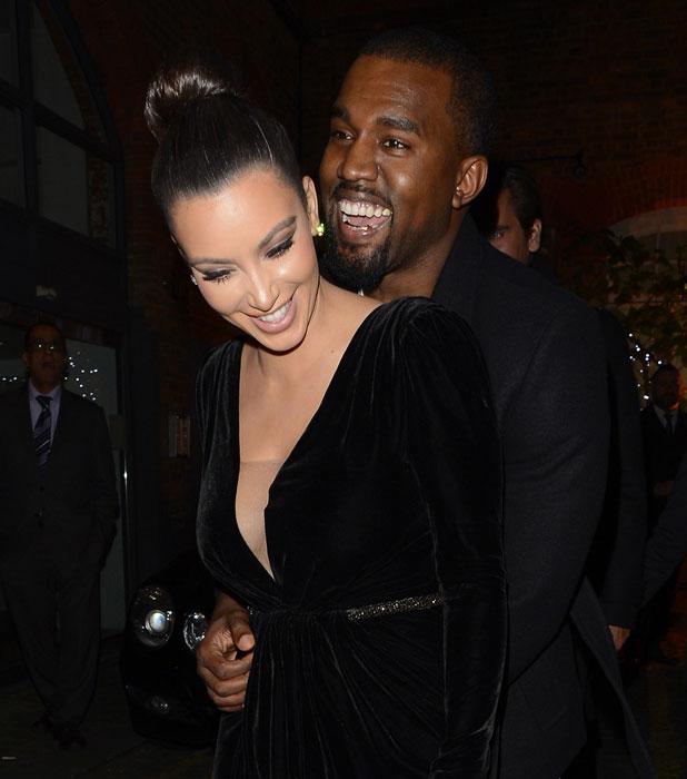 Kim Kardashian, Kanye West Kim Kardashian, Kanye West, Khloe Kardashian, Kourtney Kardashian and Scott Disick at Hakkasan restaurant London, England - 09.11.12 Mandatory Credit: Michael Jaworski /WENN.com