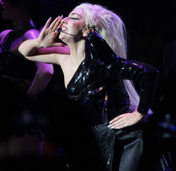 Lady Gaga performing in concert at Forum Assago Milan, Italy - 02.10.12 Mandatory Credit: Marco Piraccini/WENN.com