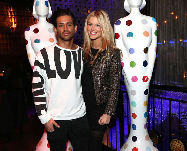 The Official Pre-BRIT Awards 2013 party held at Buddha Bar Featuring: Ollie Locke with his girlfriend Ashley James Where: London, United Kingdom When: 19 Feb 2013 Credit: Lia Toby/WENN.com