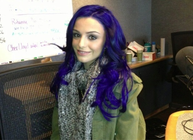 Cher Lloyd dyes her hair blue in Facebook picture dated 24 February 2013