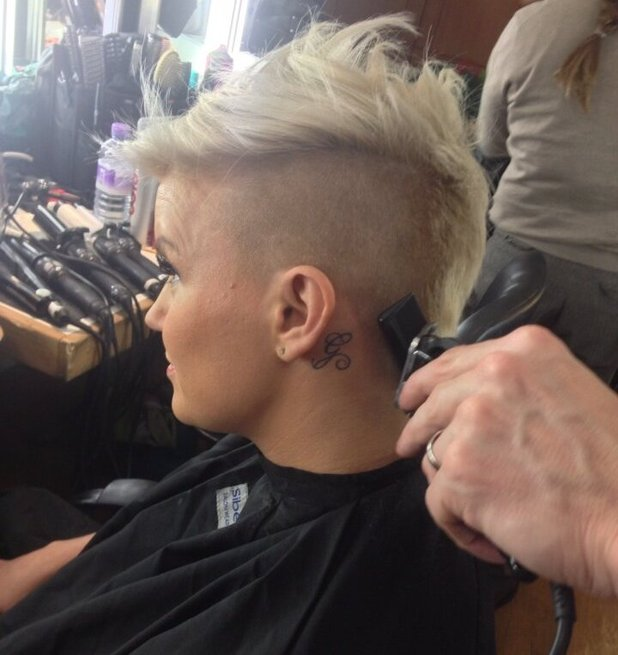 Kerry Katona Shaved Head