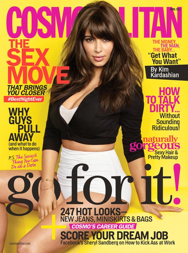 Kim Kardashian Cosmopolitan March 2013