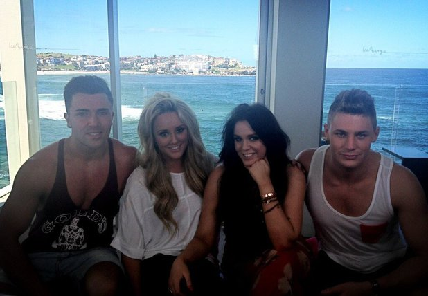 Geordie Shore's Scott Timlin, Charlotte Crosby, Vicky Pattison and James Tindale