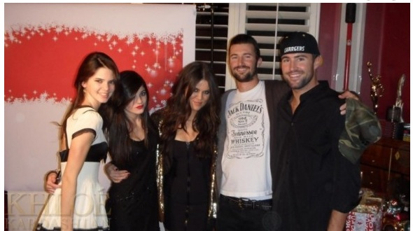 Kendall, Kylie, Khloe Kardashian with Brandon and Brody Jenner