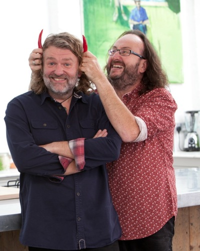 Hairy Bikers Great Curries publicity shot with chilli
