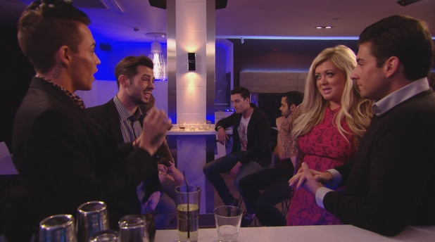 Gemma Collins, Bobby Norris, Charlie King and James Arg Argent row on The Only Way Is Essex - 13 March 2013