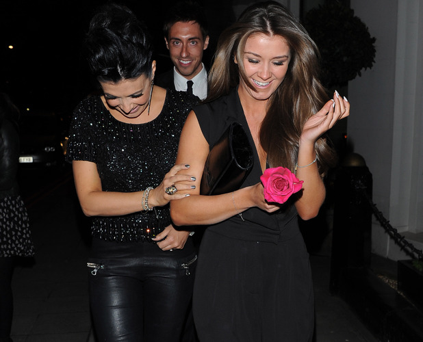 Coronation Street's Brooke Vincent and Kym Marsh look a little worse for wear as they leave DSTRKT night club and get into a cab Featuring: Brooke Vincent,Kym Marsh Where: London, United Kingdom When: 19 Mar 2013 Credit: Craig Harris/WENN.com