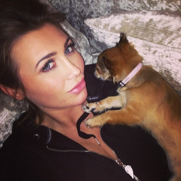 TOWIE star Lauren Goodger and puppy MiMi, 21.03.2013