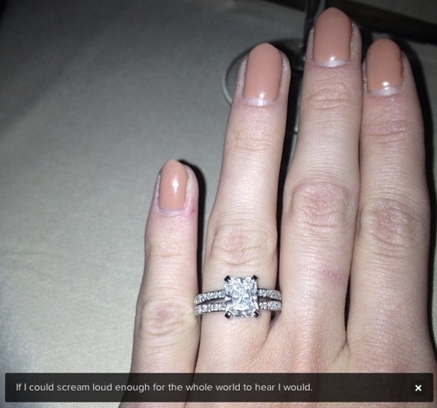 Millie Mackintosh engaged ring from Professor Green