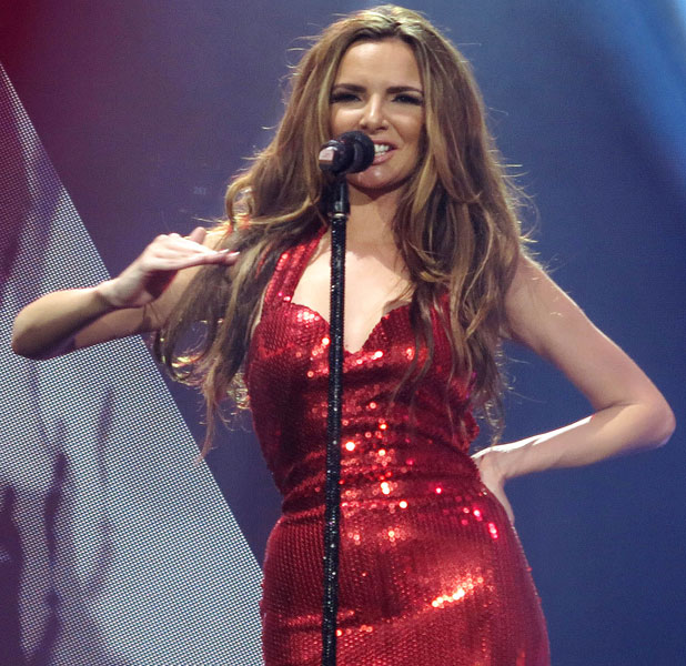 Nadine Coyle, Girls Aloud perform live in concert on their '10' tour at the O2 Arena London, 1 March 2013