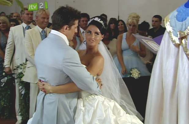 Katie Price and Alex Reid during their wedding blessing, seen on 'Katie & Alex: For Better For Worse'. England - 21.07.10 Supplied by WENN.com WENN does not claim any ownership including but not limited to Copyright or License in the attached material. Any downloading fees charged by WENN are for WENN's services only, and do not, nor are they intended to, convey to the user any ownership of Copyright or License in the material. By publishing this material you expressly agree to indemnify and to hold WENN and its directors, shareholders and employees harmless from any loss, claims, damages, demands, expenses (including legal fees), or any causes of action or allegation against WENN arising out of or connected in any way with publication of the material.