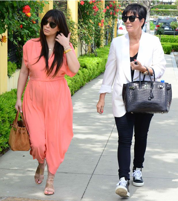 Kim Kardashian and Kris Jenner out and about, Calabasas, Los Angeles, America - 07 Apr 2013