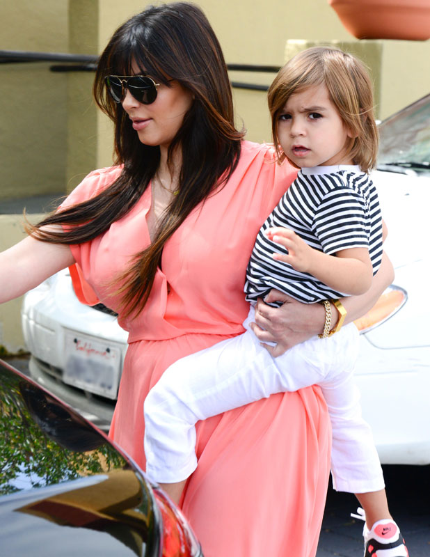 Pics For > Kim Kardashian Pink Dress Baby Shower