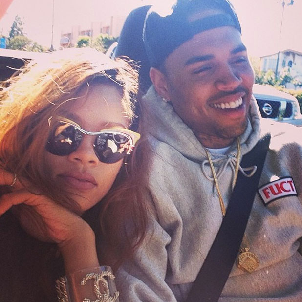 Rihanna tweeted this picture of herself and Chris Brown on 10 April 2013