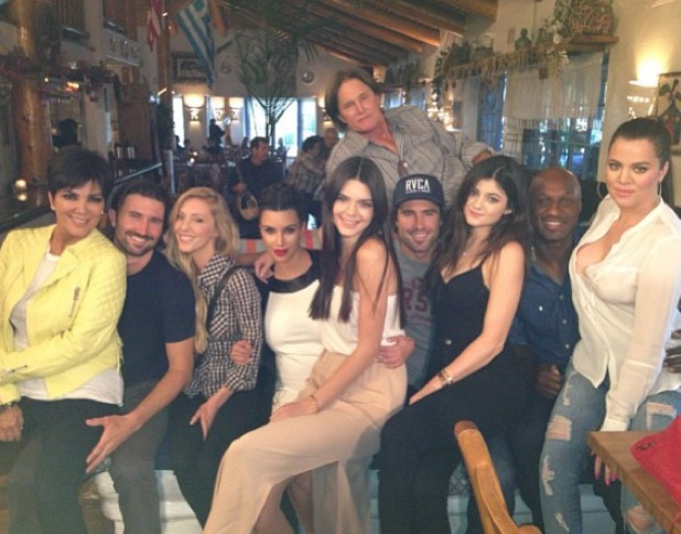 Kim, Khloe, Lamar Odom, Kendall, Kylie, Bruce Jenner, Kris Jenner, Brody - Kourtney Kardashian celebrates 34th birthday with Kardashian family - 18 April